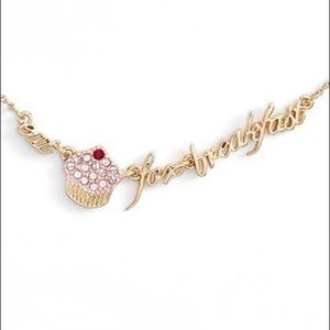 """Kate Spade """"Eat Cake for Breakfast"""" Necklace"""